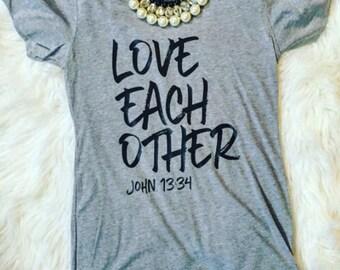 Love each other t-shirt