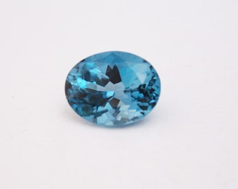 21.20 Cts Natural London Blue Topaz Faceted Oval Shape