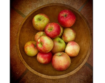 Apple Print,  Food Photography, Food Print, Kitchen Decor, Fall Harvest, Rustic Decor,  Fruit Still Life Photography
