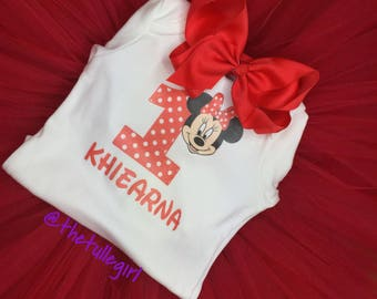 red and white minnie mouse tutu set