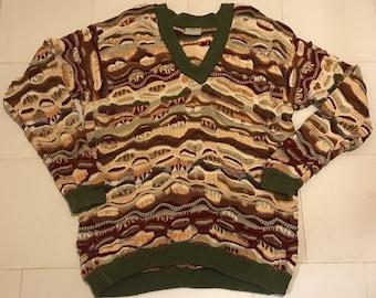 VTG COOGI V-neck Sweater Size 2XL