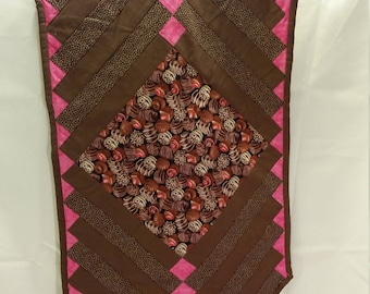 Chocolate motif table runner