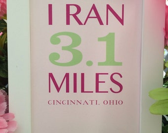 5k Race Finisher Framed Art inspired by Girls on the Run (GOTR)