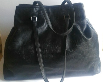 Armani Exchange A/X Extra Large Embossed Tote Bag