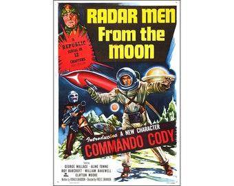 Radar Men From The Moon Movie Poster Print - 1952 - Sci-Fi - 1 Sheet Artwork
