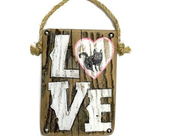 Personalize This Original Art Item-Love Sign Hand Painted on Reclaimed Wood-Mangoseed