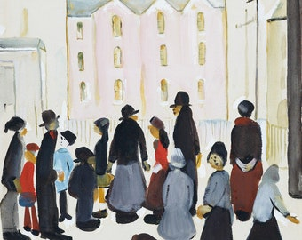 L S Lowry Group Of People, 1959