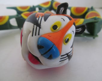 Kellogg's Tony The Tiger Top Toys Tops Vintage Tony the Tiger toys Kellogg Advertising Promotional Cereal Box Toys