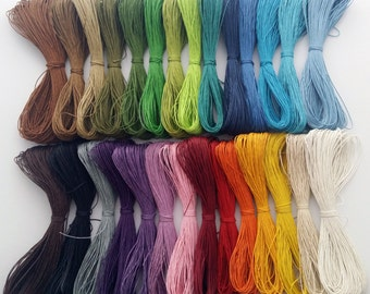 Waxed cotton cord,  1mm wax cord, shamballa, macrame bracelet, black and other colours - 10 - 400 metres