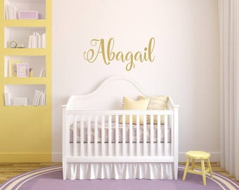 Name Wall Decal, Custom Nursery Wall Decorations, Baby Room Stickers, Sticker Wall Art, Removable Wall Art, Baby Room Stickers, Wall Decal