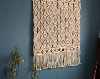 Woven wall hanging, Large macrame wall hanging, wall tapestry, large wall art, bedroom decor, living room decor, wall art, wall decor, boho