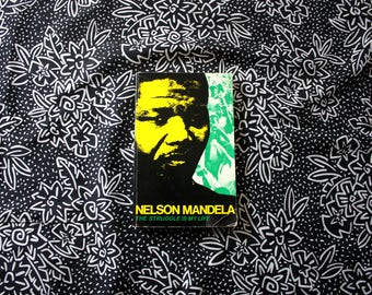 Nelson Mandela Autobiography. The Struggle Of My Life By Nelson Mandela Book With Black And White HIstorical Photographs.