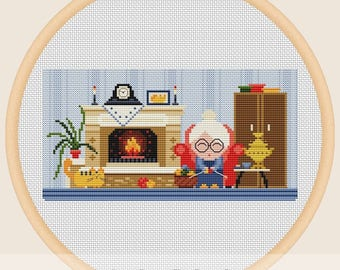 Grandma house - Cross stitch pattern