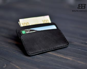 Personalized leather Card Holder, Leather Card Case, Leather Card wallet, Business Card Holder, Credit card case, Credit card wallet