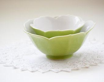 Green Lotus Blossom Bowls