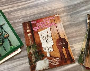 1977 Macrame Craft Calendar | vintage macrame magazine, vintage magazine, boho decor, macrame, macrame instructions, wall hanging, woven art