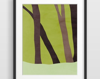 Forest Print, Woodland Wall Art, Scandinavian Art, Minimalist Art, Tree Art Print, Nature Print, Modern Art, Nordic Art, Scandinavian Print