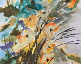 Abstract pale flowers