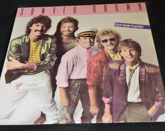 Vintage Vinyl Record Sawyer Brown: Out Goin' Cattin' Album ST-12517