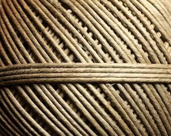 Coil 120 meters - 1.5 - 2 mm Beige Ecru linen Twine cord - 8741140010871
