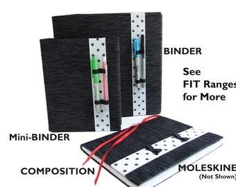 Planner Band POLKA DOTS Planner Pen Holder for Moleskine Pen Holder, Planner Accessories, Binder Band, Bullet Journal Accessories, Book Band