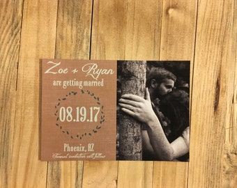Floral Save the date, Rustic Save the Date postcards, Photo save the date, Mint save the date, save the date postcards