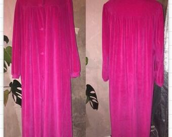 Fuchsia velvet coat size S/M