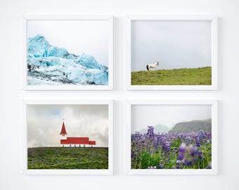 Gallery wall discount - Iceland print set of 4 - One free! - Minimal photography - Matching wall decor - Art photo gift - Instant collection
