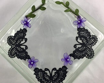 Black lace Butterfly Hairchain
