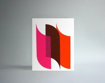 Untitled (Abstraction) Handprinted Silkscreen Art Print