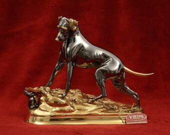 Bronze Dog and Rabbit
