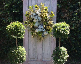 Deluxe Summer wreath, Large Front door wreath,  Deluxe Front Door Wreath, Double Door Summer Wreath,Elegant Summer Wreath, Large wreath