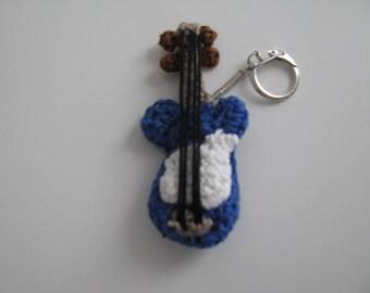 Guitar Keychain crochet