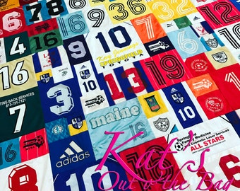 Tee Shirt Memory | Quilt Memory Quilt | Keepsake Sports Jersey Quilt | Graduation Clothes Quilt | Custom Made to Order