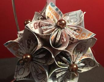 """Handmade """"Son of God"""" Kusudama Flower Christmas Ornament"""