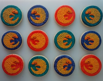 Pangolin Cookies - One Dozen Decorated Cookies