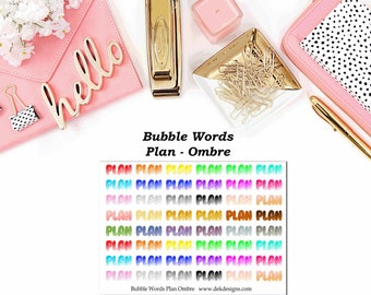Bubble Words - Plan Ombre//EC//Hp classic, large mini
