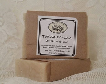 Teakwood & Cardamon Handmade Vegan Soap