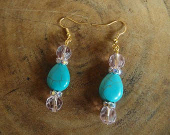 Earring of natural stone Turquoise drop!