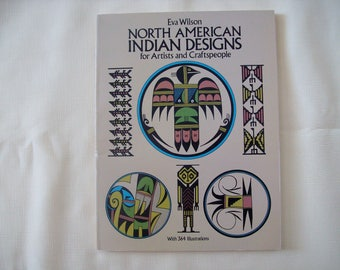 North American Indian Designs for Artists and Craftspeople Paperback 1987. Price Includes Shipping.