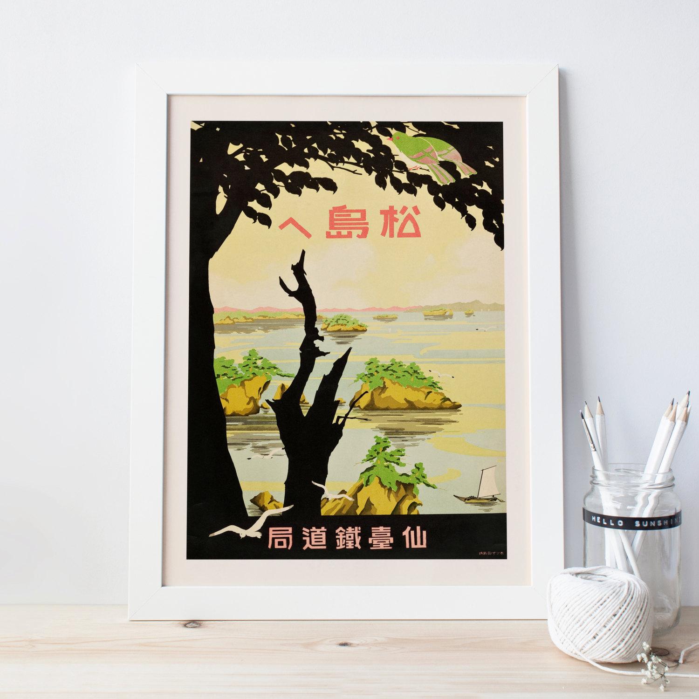 JAPAN TRAVEL POSTER Vintage Japanese Travel Print