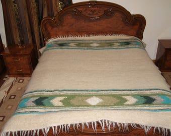 Sheep's Wool Blanket Carpathian Lizhnyk Handmade Eco 100% Wool 190*220