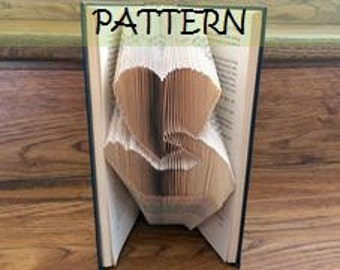 Book folding Pattern: HEART over HAND design (including instructions) – DIY gift – Papercraft Tutorial - make this perfect teacher's gift