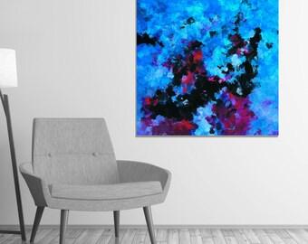 Teal Abstract Art Print, Abstract Wall Art, Abstract Print for Wall Decor, Contemporary Abstract Decor, Creative and Modern Abstract Prints