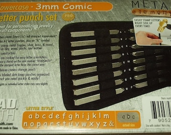 1 set letter stamp seal 3 mm comic lowercase lowercase