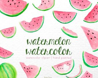 watermelon clipart Watercolor clipart, clipart, pink clip art, fruits, digital clipart, lovely clipart, pink clipart, pattern clipart