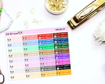 Ctrl Alt Kawaii Multicolor New Releases // Planner Stickers