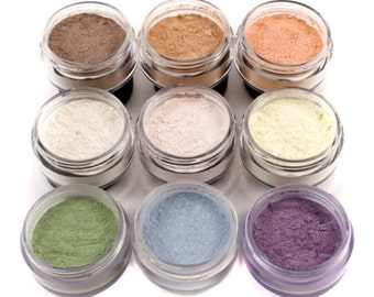 15% OFF - 9pc SPRING Eyeshadow Mineral Makeup Kit