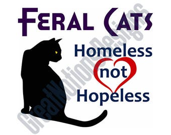 Feral Cats SVG - HTV - Vinyl Cutting Graphic Art
