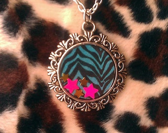 Electric Cotton Candy Cameo Necklace - SALE
